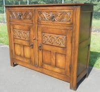 Carved Oak Sideboard Cupboard Base